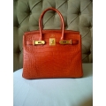 Birkin size 30 in Sanguin Color in Alligator Matte Leather with Gold Hardware in New Condition, Stamp #R